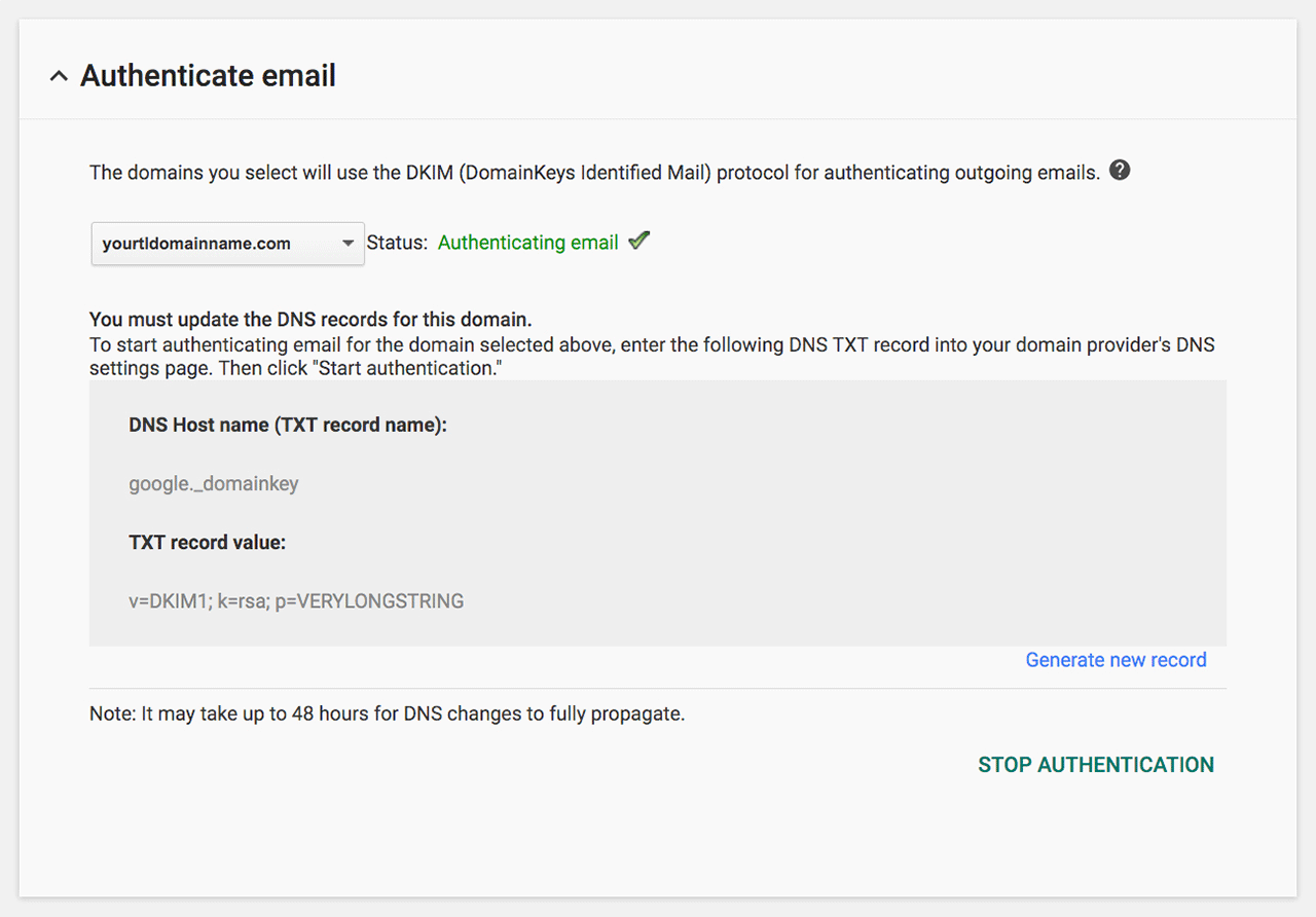 Authenticate your Google Apps' Gmail with DKIM and ...